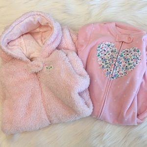 Hooded pajama and sack style sleeper